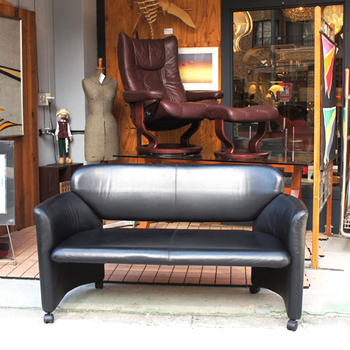 hukla pinos leather sofa bench ekornes stressless wing