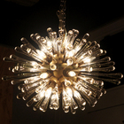 """60's Murano Italy """"Radiant Glass"""" Large Chandelier"""