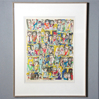 """1989 """"James Rizzi"""" Signed 3D Serigraph """"CAFE IN PARIS"""""""