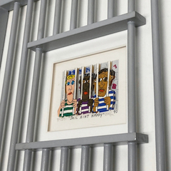 """"""" James Rizzi"""" 3D Serigraph """"JAIL AIN'T HAPPY"""" Special Frame Ver."""