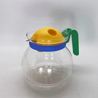 "Germany ""JENAER GLAS"" 80's Pop Multi Color Tea Pot"