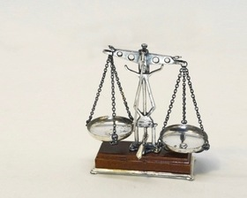 Italy Sterling Silver Miniature Balance Scale