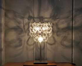 """Italy """"Giogali"""" Style Glass Chandelier Table Lamp"""