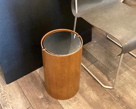 """Vintage """"Saito Wood"""" Teak / Metal Lid Dust Box"""