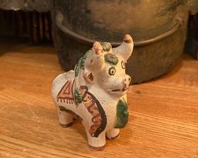 Spain Vintage Folk At Pottery Bull Figure