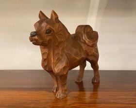 秋田犬 木彫り