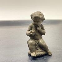 Antique Iron Angel Sculpture
