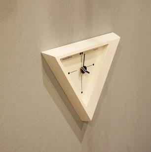 Japanese Postmodern Design Triangle Wall Clock