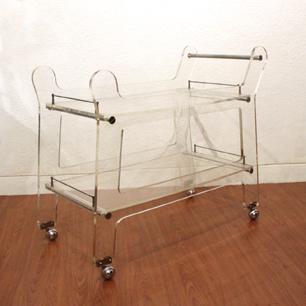Acrylic trolley Wagon