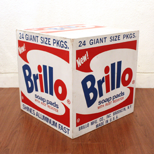 Brillo Wood Box Display