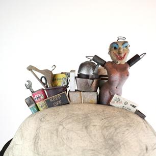 sculpture「創造と破壊」