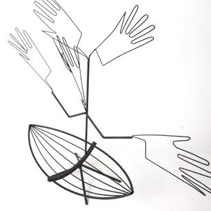 手袋用ディスプレイ販売什器