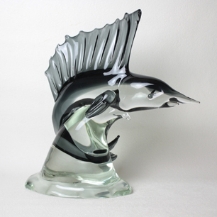 Glass Sculpture<br>「Swordfish」