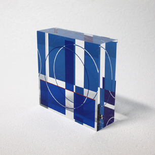 KINETIC ART Sculpture (Blue-S)