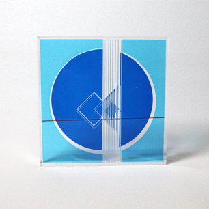 KINETIC ART Sculpture (Blue-L)
