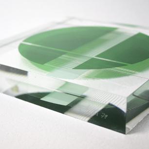 KINETIC ART Sculpture (Green-L)