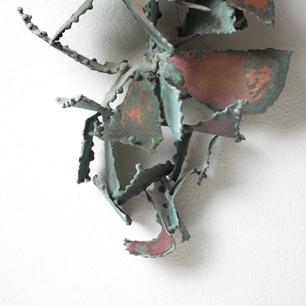 Bronze Leaf <br>Wall Hanging Sculpture