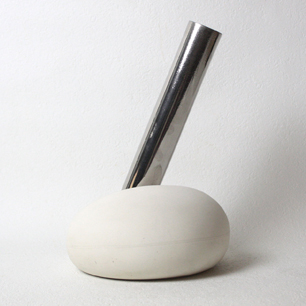Ceramic / Metal Tube Abstract Objet