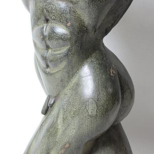 木彫トルソー(男性像)
