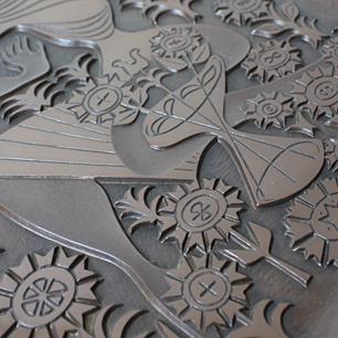 Figgioのイラスト!? 日本の銅板レリーフ工芸