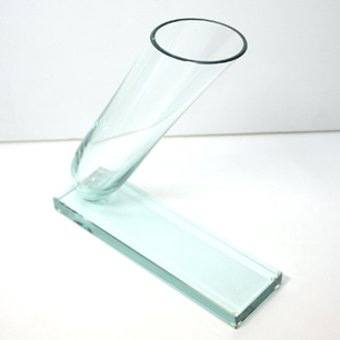 Inclination Cylinder Glass Vase