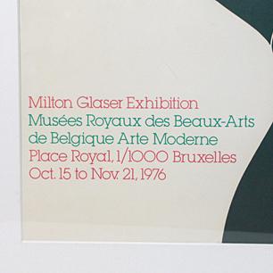 1976Milton Glaser <br>Exhibision Poster
