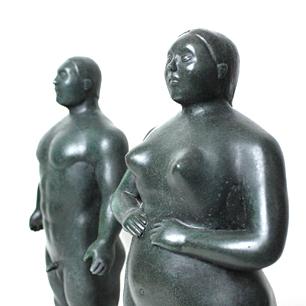 ボテロの彫刻 アダムとイヴ