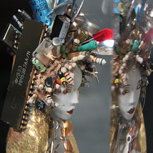 Radical Cyber Girl Sculpture