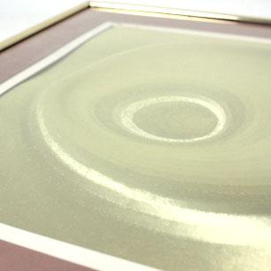 Gold Spiral Optical Art