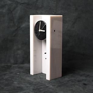 B&W PostModern Marble Clock