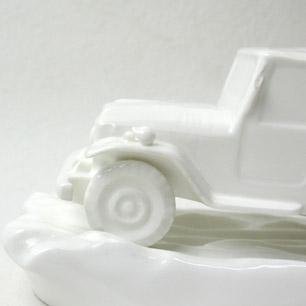 日本陶器会社 オールドノリタケ製<br>TOYOTA ランドクルーザー20系<br> Figure Novelty