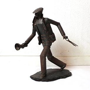 「灯台守」Rustic Iron Sculpture