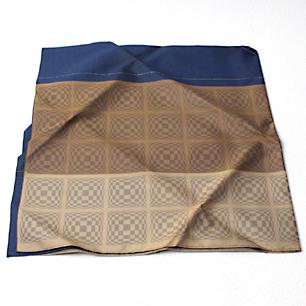 幾何学織文様正絹風呂敷