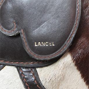 Vintage「 Lancel 」<br>Zebra Leather Bag