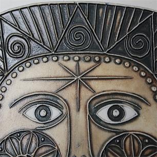 アステカの太陽石がモチーフ