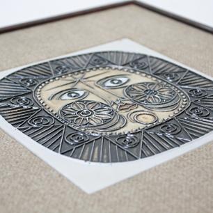 「Piedra del Sol」<br>Ceramic Art Plate