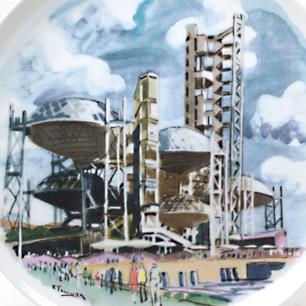 田村孝之介 EXPO'70 住友童話館 絵皿