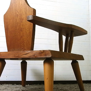 Oak Wood <br>Craft Lounge Chair
