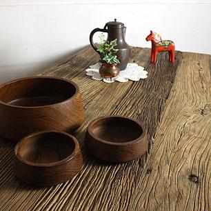 Elm Wood × Steel Frame<br>Working Table
