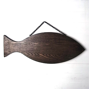 Oak Wood Fish Door Knocker