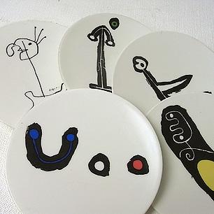 巨匠 Joan Miro のピクチャープレート