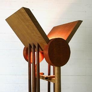 オーク材とウォルナットのクラフトランプ