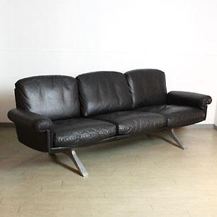 Swiss deSede  Vintage Leather 3P Sofa