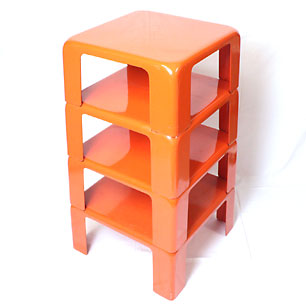 Italy C&B  Quattro(4) Gatti <br>Stacking Shelf & Nesting Table