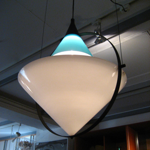 60~70'S Italy VeArt<br>Murano Glass Shade <br>Pendant Lamp