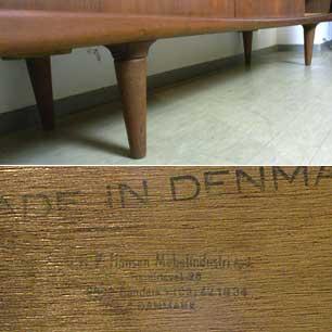Denmark  H.P Hansen <br> Teak Sideboard