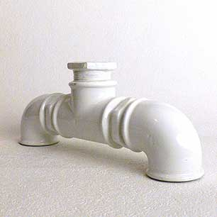 Ceramic Water Pipe Objet Vase