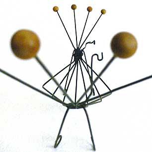 蟹ワイヤーフレームバスケット