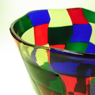 Murano Glass Bianconi Vase  Pezzato