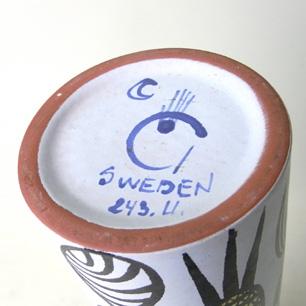 Gustavsberg Sweden<br>Karneval Vase<br>Designed by Stig Lindberg
